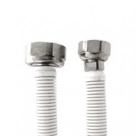 Tubo extensível em aço inox revestido UNE 60713 DN12 1/2x3/4'' fêmea-fêmea 30-47 cm