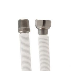 Tubo extensível em aço inox revestido UNE 60713 DN12 1/2 x 1/2'' macho-fêmea 50-85 cm