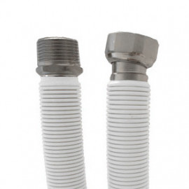 Tubo extensível em aço inox revestido UNE 60713 DN20-3/4'' macho-fêmea 50-85 cm