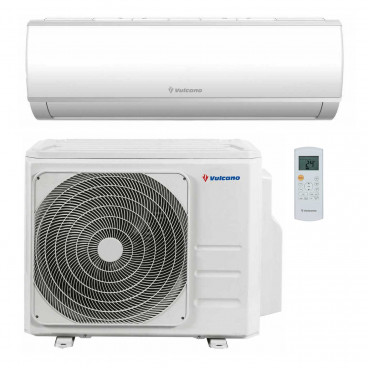 Ar condicionado Monosplit mural Easy2 Cool 7,0 kW/24.000 BTU (un.exterior+un.interior)8733500889 e 8733500890, R32, Vulcano