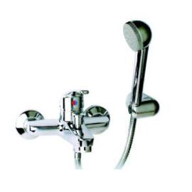 Torneira monocomando de banheira com chuveiro Novi6 (manípulo fechado) cromado