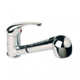 Misturadora de banca com chuveiro Novi6 (manípulo fechado) cromado