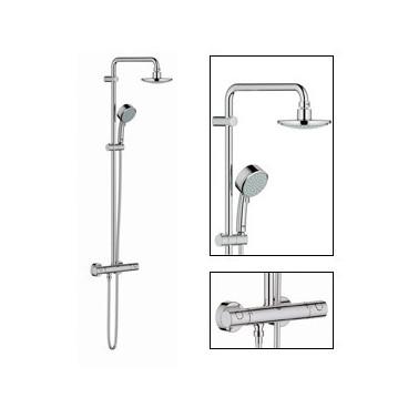 Sistema de duche com misturadora termostática e chuveiro de 160mm Tempesta System 27922000 Grohe