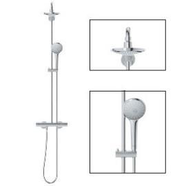 Sistema de duche com misturadora termostática e chuveiro 180mm Euphoria 27296001 Grohe