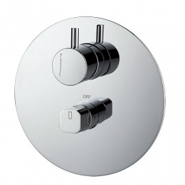 Misturadora de banheira/duche de encastrar (2 vias) cilíndrico