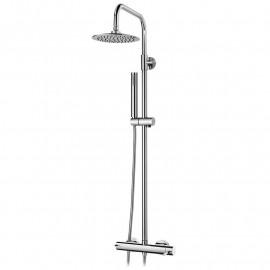 Sistema de duche com coluna telescópica cilíndrico