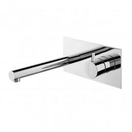 Misturadora de lavatório encastrar com espelho rectangular cilíndrico