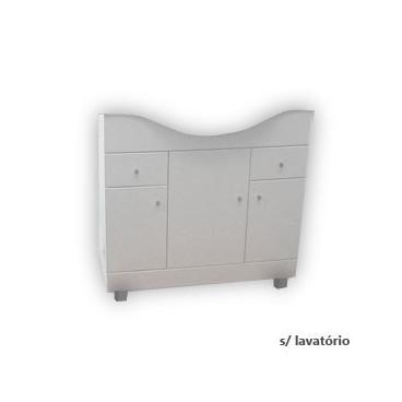Móvel com 80 cm Clio branco
