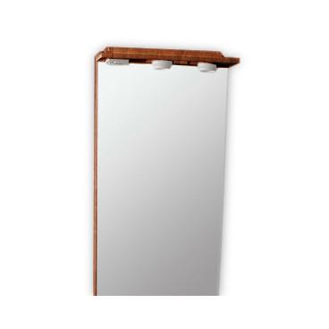 Espelho com 50 cm BL cerejeira com focos e tomada