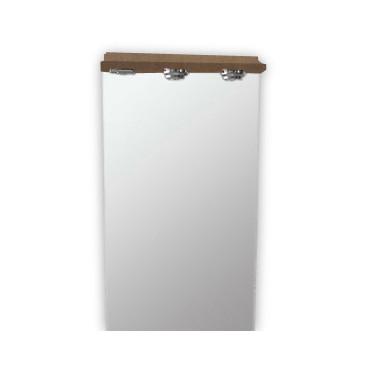 Espelho com 60 cm Clio cerejeira com focos e tomada