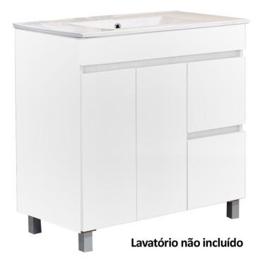 Móvel com 100 cm Plan Viana branco