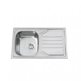 Lava-louça OKIO 78 FLAT (1 cuba 780 x 435 mm) polido, Rodi