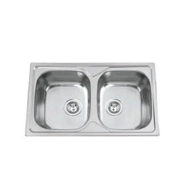 Lava-louça OKIO 80 BB (2 cubas 800 x 500 mm) polido, Rodi