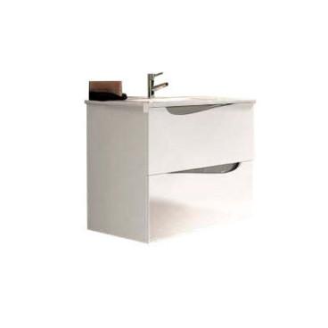 Móvel Haway com 60 cm branco suspenso lacado (lavatório e torneira não inlcuídos)