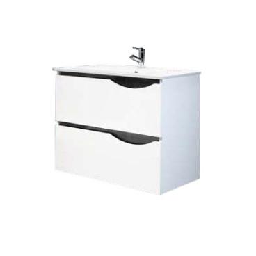 Móvel Sabine com 80 cm branco suspenso lacado (lavatório e torneira não inlcuídos)