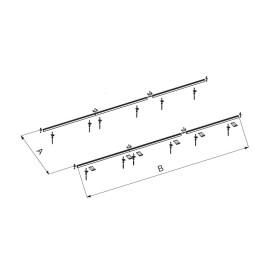Suporte de telhado para 2 coletores SOL200/250 Baxi 7212833