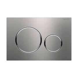 Placa de comando dupla descarga Sigma20, escovado, com revestimento easy-to-clean, polido aparafusável, Geberit 115.889.SN.1