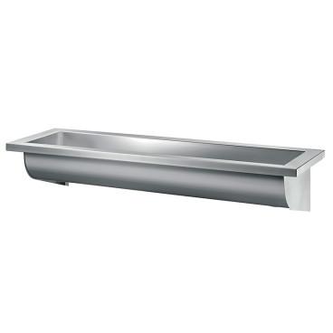 Lavatório CANAL 1400 mm satinado sem furos, Delabie 120260