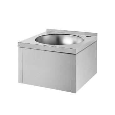 Lava-mãos SXS mecânico satinado sem torneira, sem respaldo, Delabie 181310