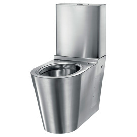 Sanita MONOBLOCO S21 Satinado Entrada inferior/lateral, Delabie 110390