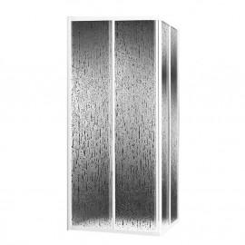Divisória Sara 90 x 90 quadrada branco + acrílico AquavivaItalbox