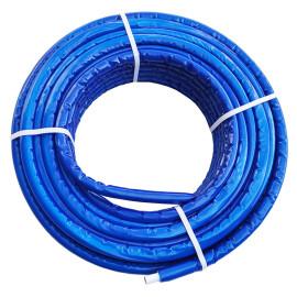 Tubo multicamada 16 x 2,0 mm com isolamento azul (6-7 mm), em rolo, Tuboflux