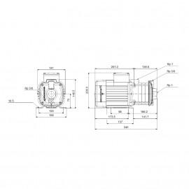 Bomba centrífuga horizontal CM 3-5A (1x230V) 96806804 Grundfos