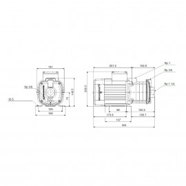 Bomba centrífuga horizontal CM 5-3A (1x230V) 96806812 Grundfos