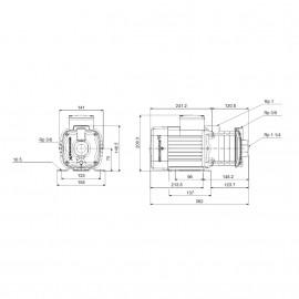 Bomba centrífuga horizontal CM 5-4A (1x230V) 96806833 Grundfos