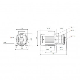 Bomba centrifuga horizontal CM5-5A (3x400V) 98694013 Grundfos
