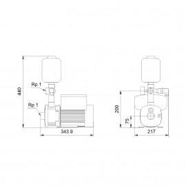 Grupo CMBE 3-62 (1x230V) 98374701 Grundfos