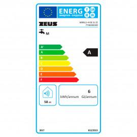 Esquentador WRN11-4 KB butano/propano, baterias, 11 l/min, exaustão natural, Zeus 7736504340