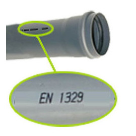 Tubo PVC 110x3,2 mm (vara 3 m) EN1329 PN4