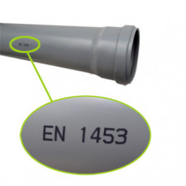 Tubo PVC 50x3,0mm estruturado EN 1453 junta elást.(3 m)