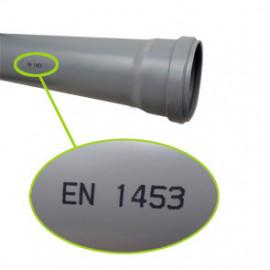 Tubo PVC 125x3,2 mm estruturado (vara 3 m) EN1453 PN4
