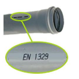 Ponta 1 m PVC 125x3,2 mm EN1329 PN4