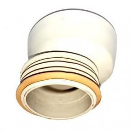 Ligação concêntrica para sanita com anilha