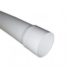 Tubo descarga 90 mm branco (3 m)