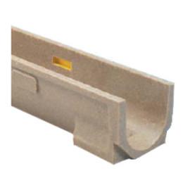 Canal de betão polímero EuroselfV+ , em módulos de 1 m (largura 130 mm, altura 95 mm), classe de carga até C250, Ulma