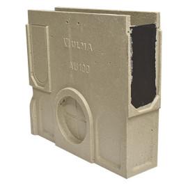 Sumidouro EuroselfV+, em módulos de 0,5 m (130 mm de largura, altura 300 mm), saída lateral de 90/110 mm e frontal de 9 mm, cl