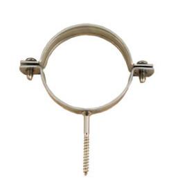Abraçadeira com parafuso, aço zincado, 3/8'' - 15 mm